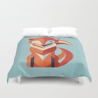fox Duvet Covers featuring Fox by Jay Fleck