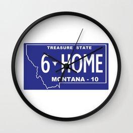 Montana Home - Bozeman, Gallatin County Wall Clock