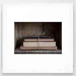 Bundle of Books Framed Art Print