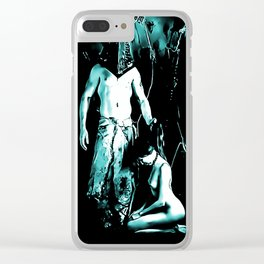 Welcome to Silent Hill - Pyramid Head, sexy erotic nude, cartoon in green tones, submissive girl Clear iPhone Case