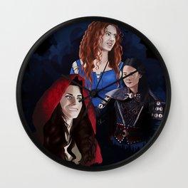 Warrior Women of OUAT Wall Clock
