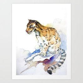 clouded leopard Art Print