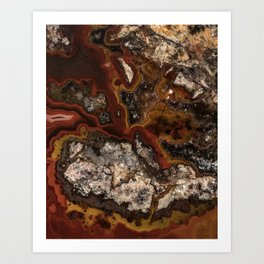 Twisted patterns of brown, red and beige stone Art Print