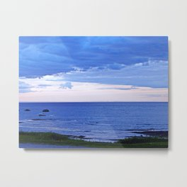 Blue on Blue at the River Mouth Metal Print