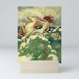 """Mocca"" Mermaid by Erich Schutz Mini Art Print"