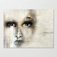 no face Canvas Prints featuring face by woman