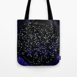 Celestial Map - Northern Hemisphere  Tote Bag