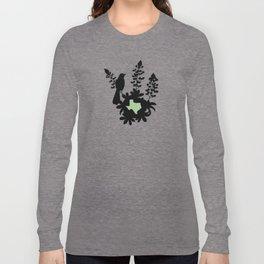Texas - State Papercut Print Long Sleeve T-shirt