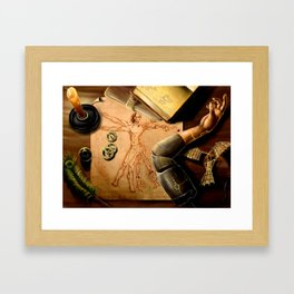Da Vinci's Drafting Table Framed Art Print