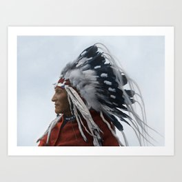 Lazy Boy - Blackfoot Indian Chief Art Print