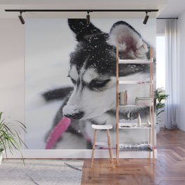 Snow Dog Wall Mural