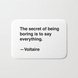 Voltaire on Conversation Bath Mat