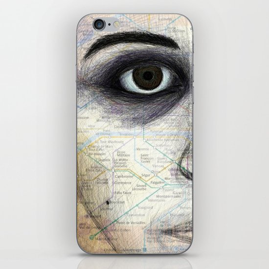 Map Portrait iPhone & iPod Skin