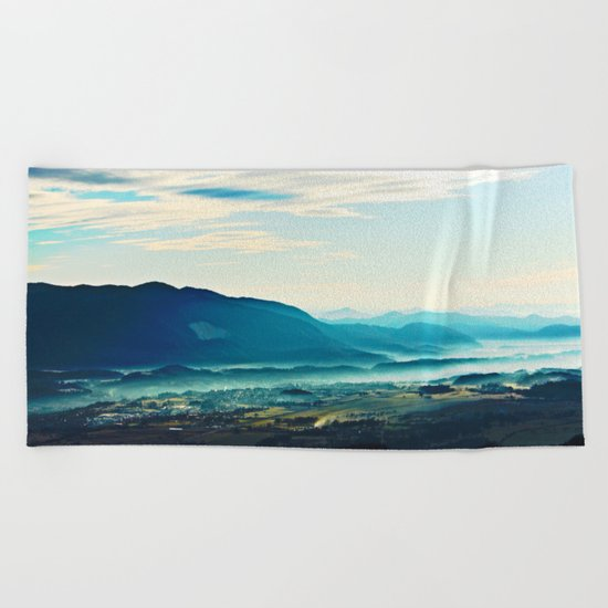 Blue Vista Beach Towel