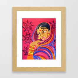 Hindu Woman Framed Art Print