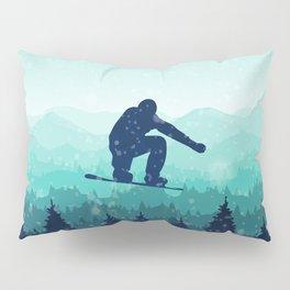 Snowboard Skyline II Pillow Sham
