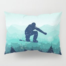 Snowboard Skyline II Pillow Sham