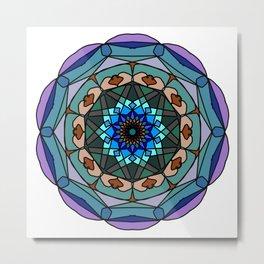 Mandala in vivid colors for energy obtaining Metal Print