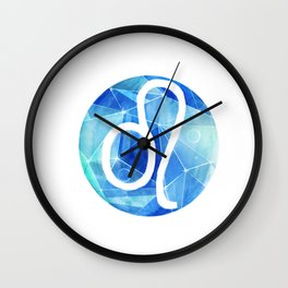 Leo. lion. Sign of the zodiac. Wall Clock