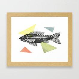 fish stamp III Framed Art Print