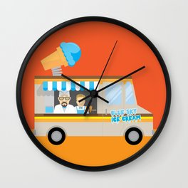Breaking tradition - Walt and Jesse make ice cream Wall Clock