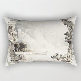 Roses (1878) by George Cochran Lambdin Rectangular Pillow