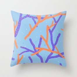 Corals Throw Pillow