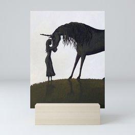 Kiss A Unicorn Mini Art Print