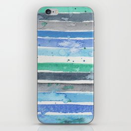 Nautical stripes iPhone Skin