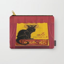 Le Chat D'Amour with Theatrical Curtain Border Carry-All Pouch
