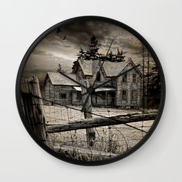 Abandoned Farm House in Ontario Wall Clock
