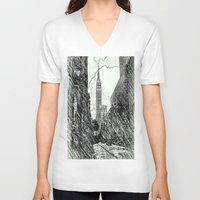sketch V-neck T-shirts featuring sketch by ALEXIS