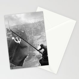Raising a Flag over the Reichstag Stationery Cards