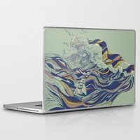 ocean Laptop & iPad Skins featuring OCEAN AND LOVE by Huebucket