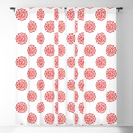 Firefighter Florian Cross Pattern Blackout Curtain