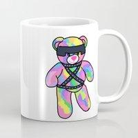 bondage Mugs featuring Rainbow Bondage Bear by clevernessofyou