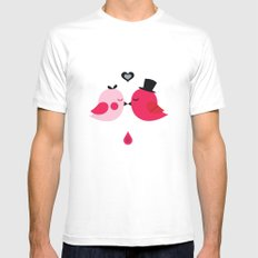 Love Birds Mens Fitted Tee White SMALL