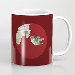 Ruby-Throated Hummingbird at the Blossom Coffee Mug
