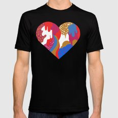 Drippy Heart Black SMALL Mens Fitted Tee