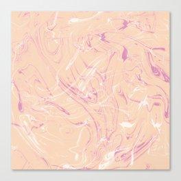 Adrift - Abstract Suminagashi Marble Series - 07 Canvas Print