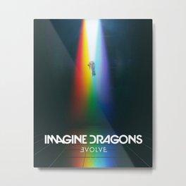 Imagine Dragon Thunder Metal Print
