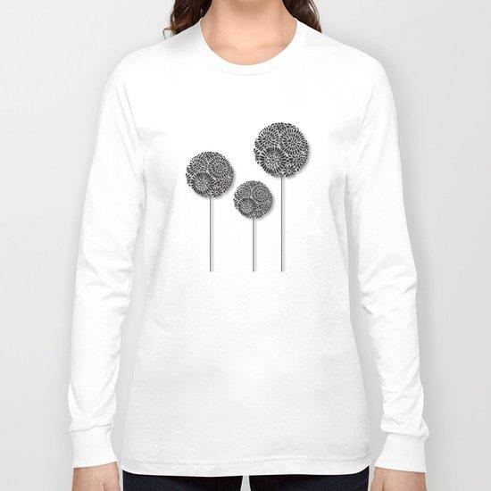 Black Dandelion Long Sleeve T-shirt