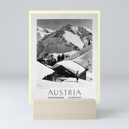 retro noir et blanc Austria Mini Art Print