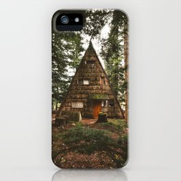 A-Frame Cabin in the Woods iPhone Case