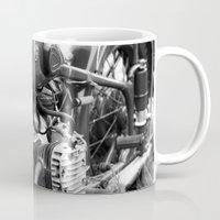 motorcycle Mugs featuring motorcycle by Falko Follert Art-FF77