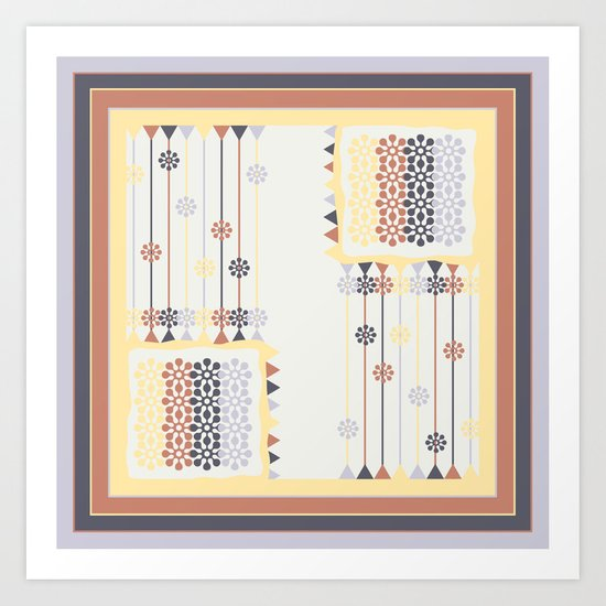Abstract pillow pattern Art Print