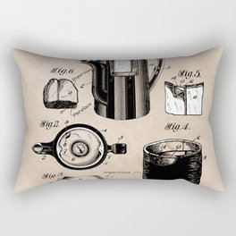 patent China Coffee pot - Blanke - 1909 Rectangular Pillow