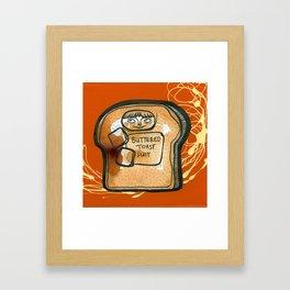Buttered Toast Suit Framed Art Print
