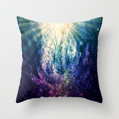Light At The End of the Tunnel : Deep Pastels Throw Pillow