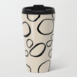 Daisy Circles Metal Travel Mug